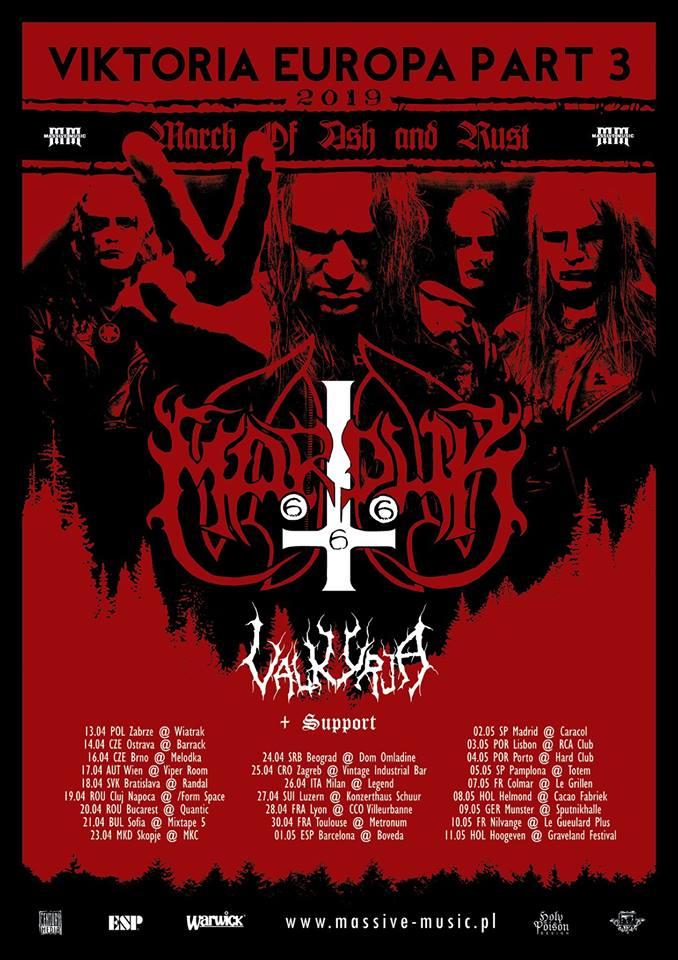 Marduk - Valkyrja - Viktoria Europa Part 3 - Tour 2019 - Promo