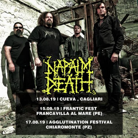 Napalm Death - Tour 2019 - Promo