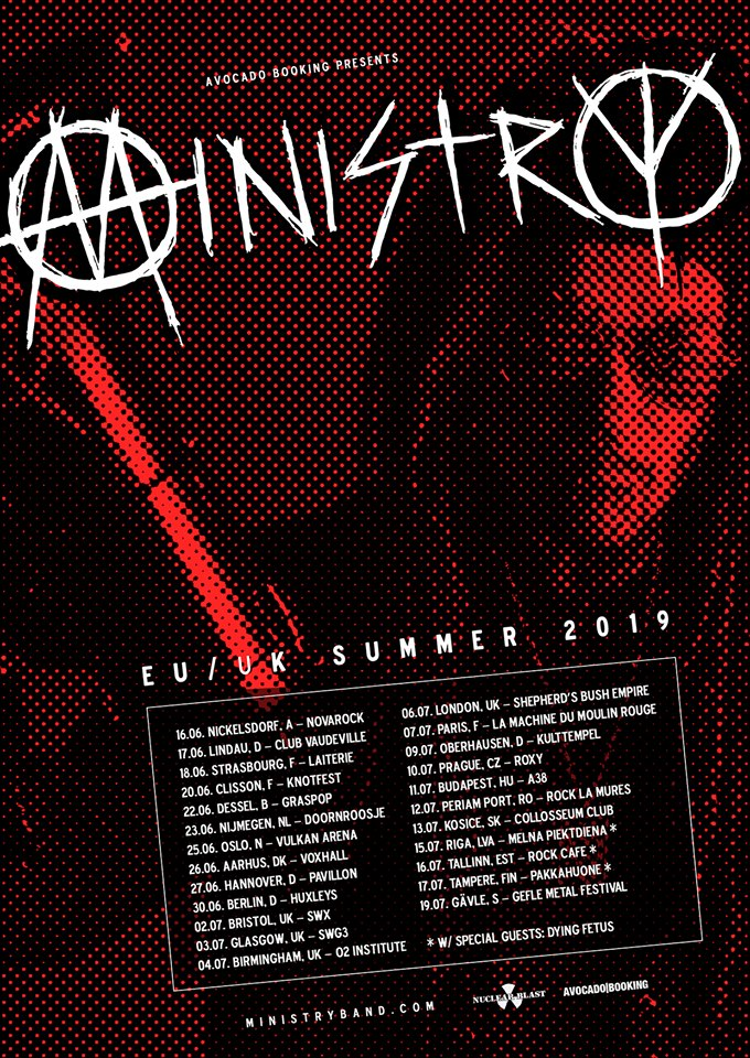 Ministry - EU - UK - Summer Tour 2019 - Promo