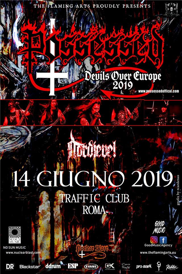 Possessed - Nordjevel - Traffic Club - Devils Over Europe - Tour 2019 - Promo