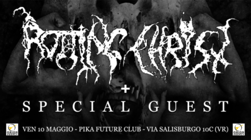 Rotting Christ - Pika Future Club - Tour 2019 - promo