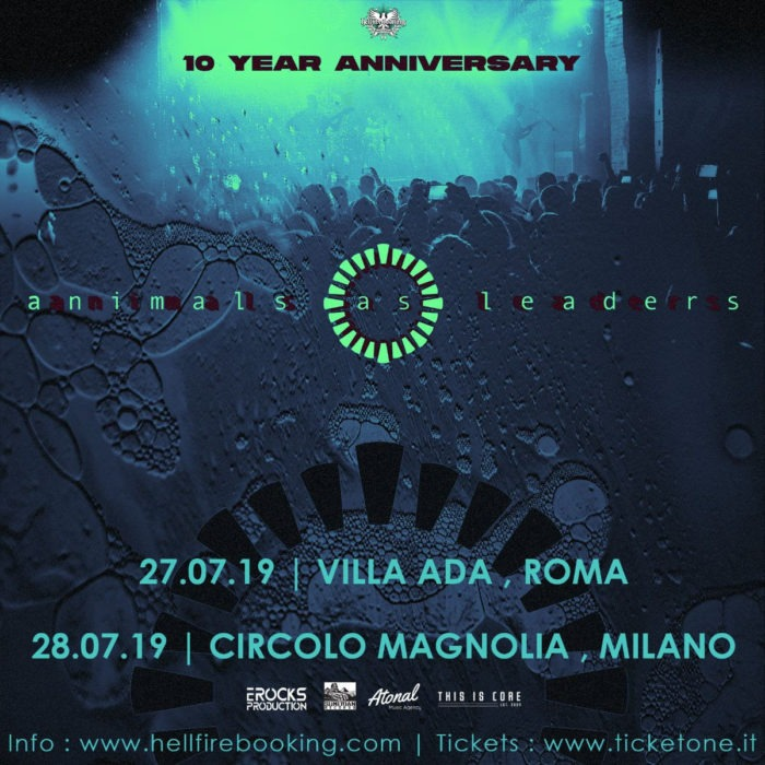 Animals As Leaders - 10 Year Anniversary - Tour 2019 - Promo