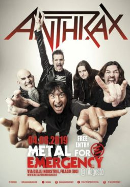 Anthrax al Metal for Emergency @ Bergamo