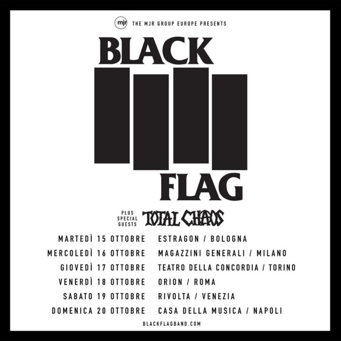 Black Flag - Total Chaos - Tour 2019 - Promo