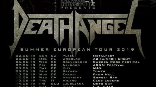 Death Angel - Summer European Tour 2019 - Promo