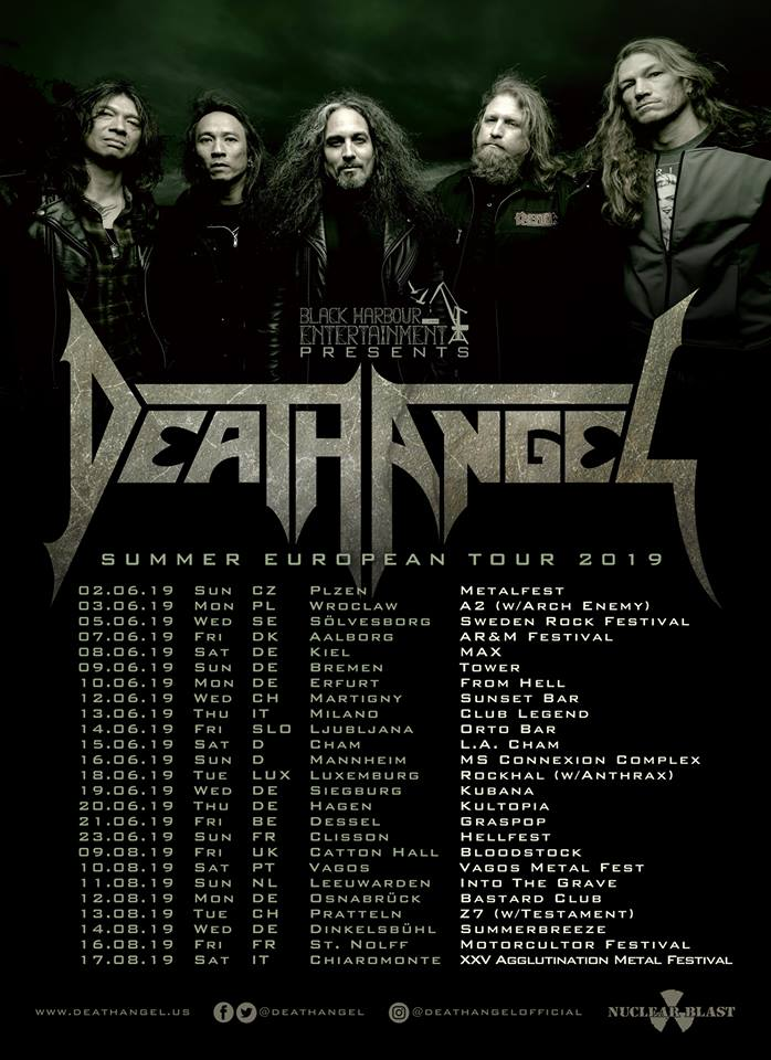 Death Angel - Summer European Tour 2019 - Promo
