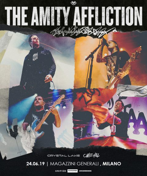The Amity Affliction - Crystal Lake - Cane Hill - Magazzini Generali - Tour 2019 - Promo
