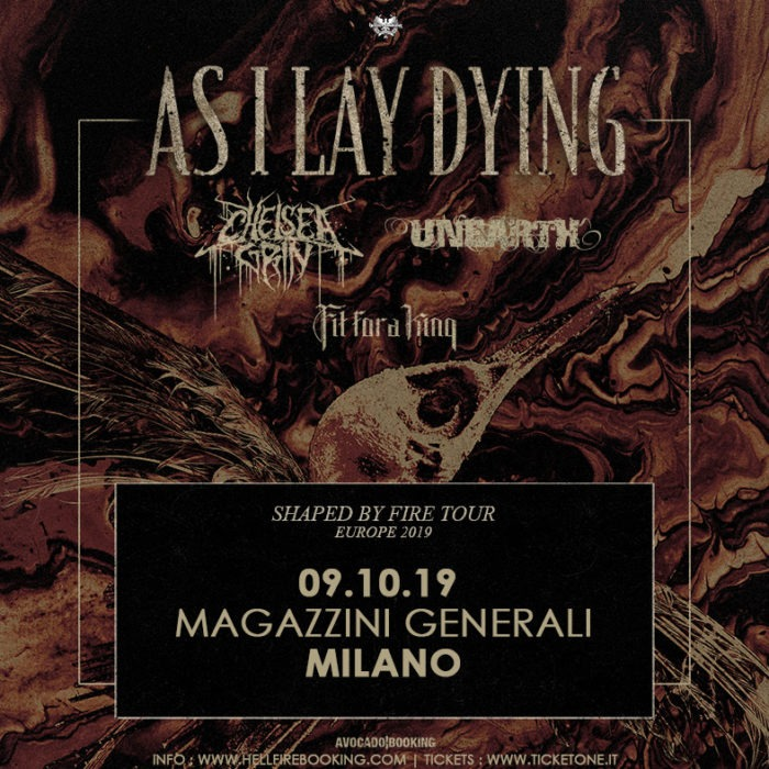 As I Lay Dying - Chelsea Grin - Unearth - Fit For A King - Magazzini Generali - Shaped By Fire - Europe Tour 2019 - Promo
