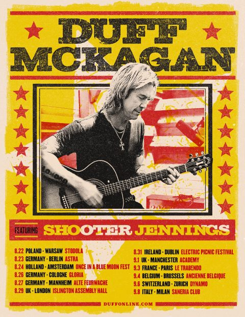Duff Mckagan - Shooter Jennings - Santeria Social Club - Tour Europeo 2019 - Promo