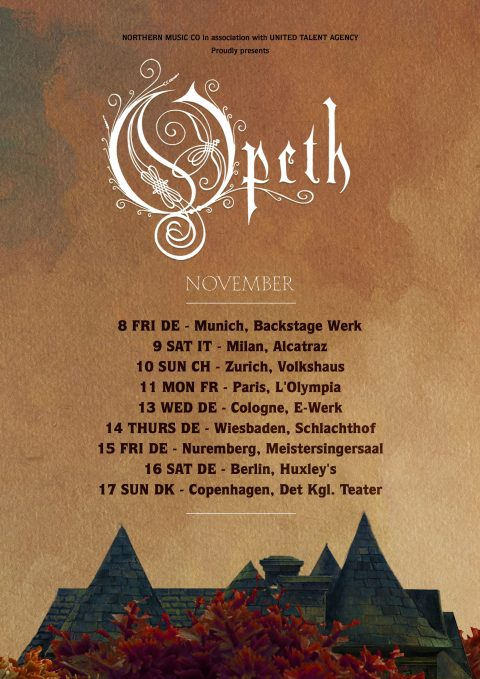 Opeth - Live Tour - Novembre 2019 - Promo