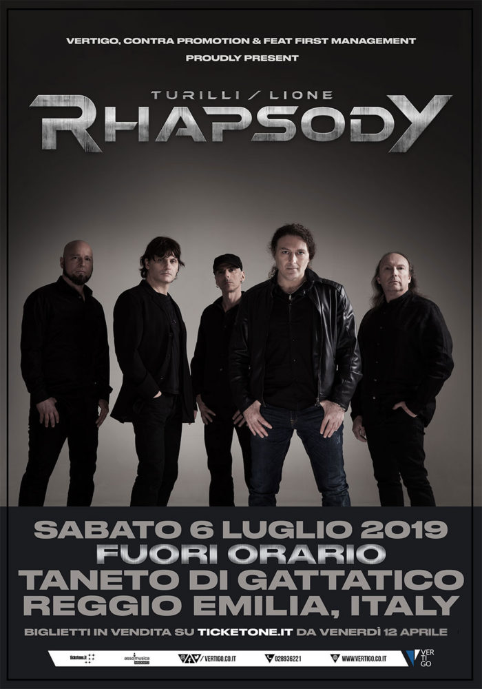 Turilli - Lione - Rhapsody - Fuori Orario - Tour 2019 - Promo