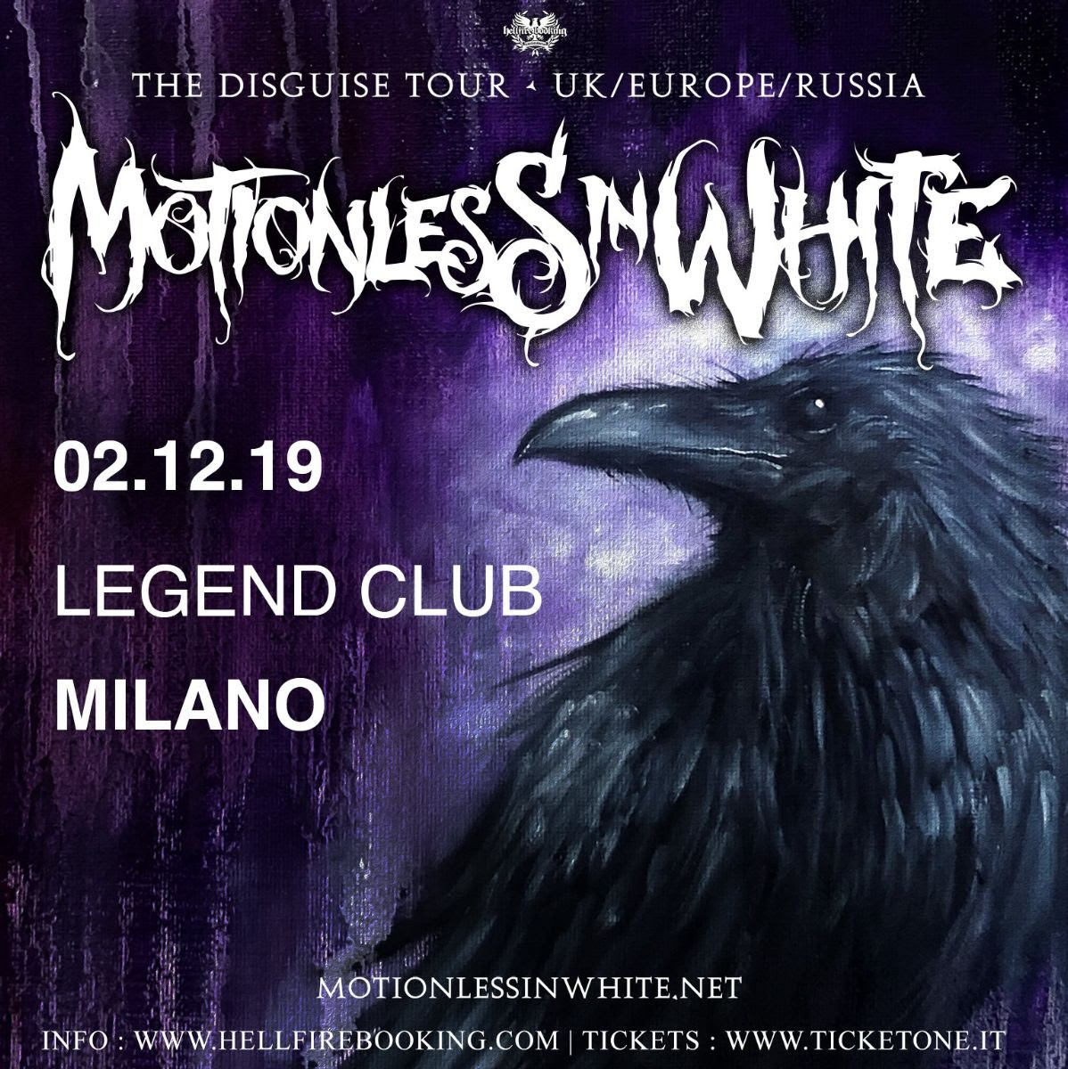Motionless In White - Legend Club - The Disguise Tour 2019 - Promo
