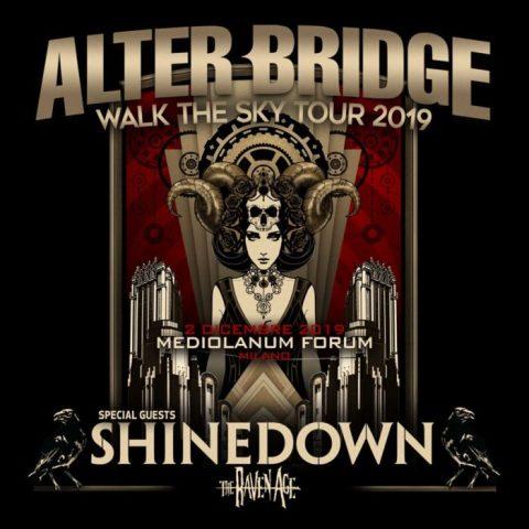 Alter Bridge - Shinedown - The Raven Age - Mediolanum Forum - Walk The Sky Tour 2019 - Promo