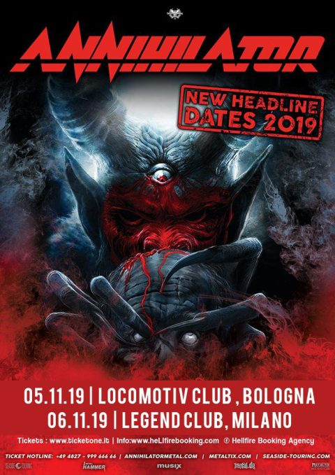 Annihilator - New Headline Dates 2019 - Promo