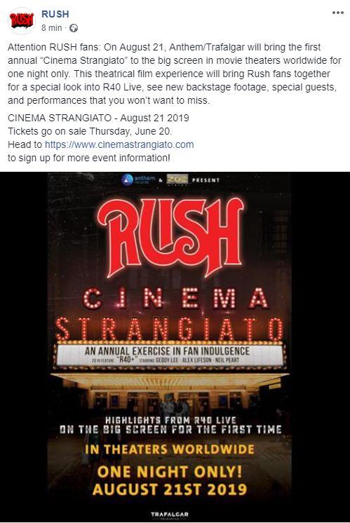 Rush - Cinema Strangiato - Promo