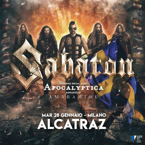 Sabaton - Apcalyptica - Amaranthe - Alcatraz - Tour 2020 - Promo