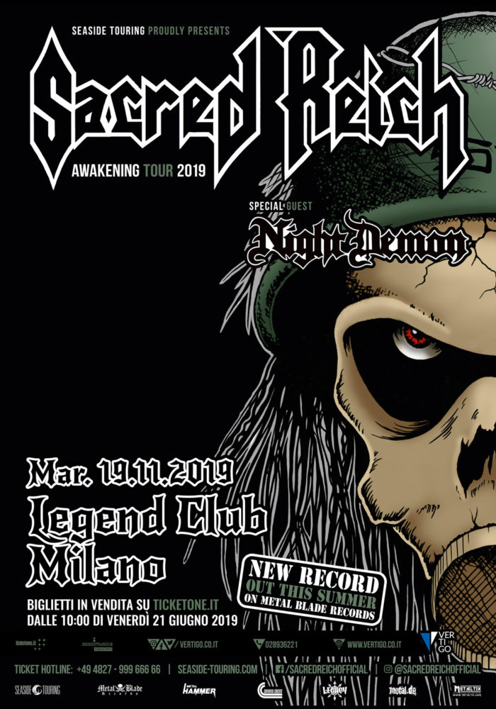 Sacred Reich - Night Demon - Legend Club - Awakening Tour 2019 - Promo