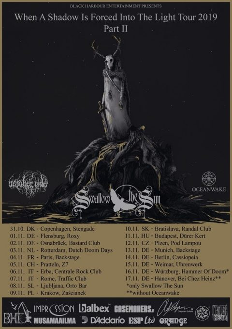 Swallow The Sun - October Tide - Oceanwake - When A Shadow Is Forced Into The Light - Tour 2019 - Promo