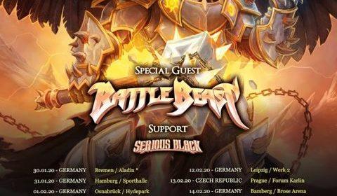 Hammerfall - Battle - Beast - Serious Black - World Dominion Tour 2020 - Promo