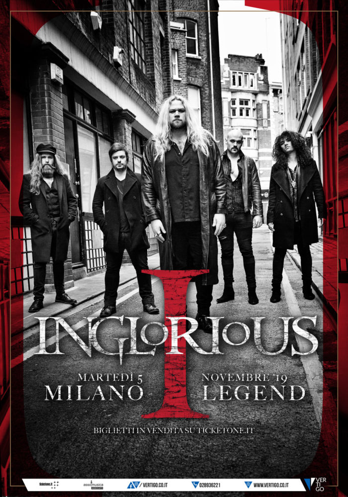 Inglorious - Legend Club - Tour 2019 - Promo