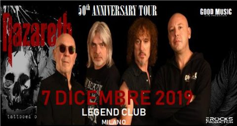 Nazareth - Legend Club - 50Th Anniversary Tour 2019 - Promo