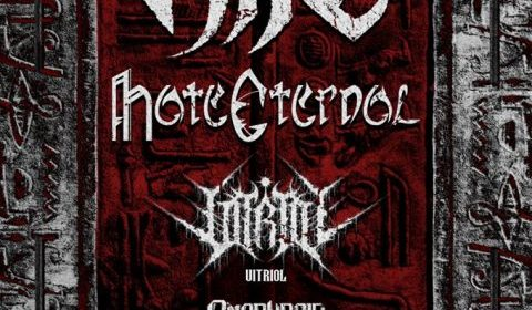 Nile - Hate Eternal - Vitriol - Omophagia - A Vile Desolate Sands - Tour 2019 - Promo