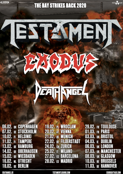 Testament - Exodus - Death Angel - Live Music Club - The Bay Strikes Back 2020 - Promo