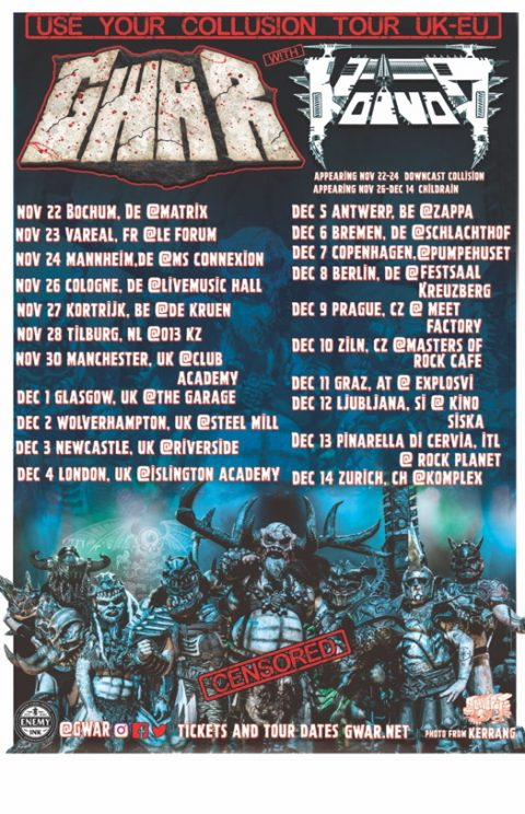 Gwar - Voivod Childrain - Rock Planet - Use Your Collusion - Tour 2019 - Promo