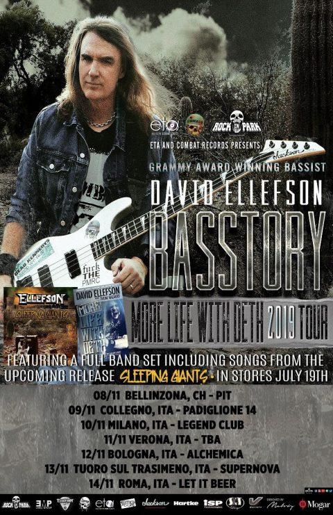 David Ellefson - Basstory More Life With Deth - Tour 2019 - Promo