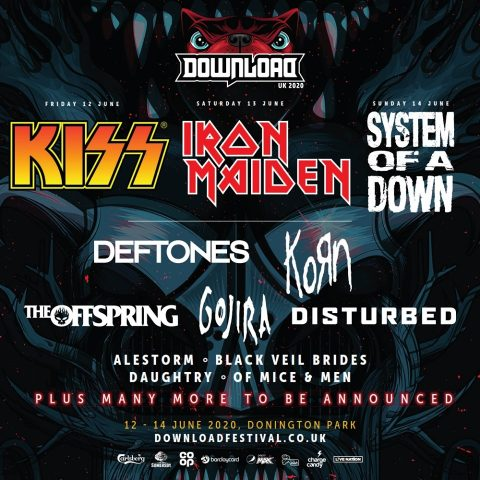 Kiss - Iron Maiden - System Of A Down - The Offspring - Deftones - Gojira - Korn - Disturbed - Donington Park - Download Festival 2020 - Promo