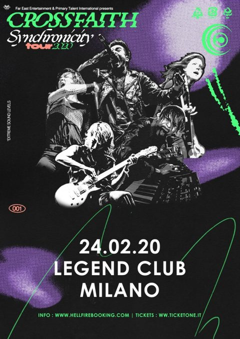 Crossfaith - Legend Club - Synchronicity_Tour 2020 - Promo