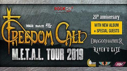 Freedom Call - Dragonhammer - Raven's Gate - Metal Tour 2019 - Promo