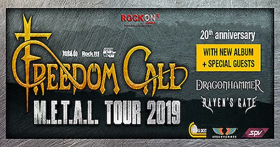 Freedom Call - Dragonhammer - Raven's Gate - Metal Tour 2019 - Promo