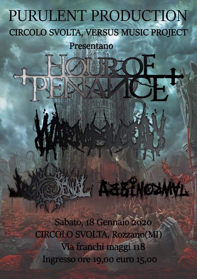 Hour Of Penance - Warmblood - Logic Of Denial - Abbinormal - Misotheism Release Party - Circolo Svolta 2020