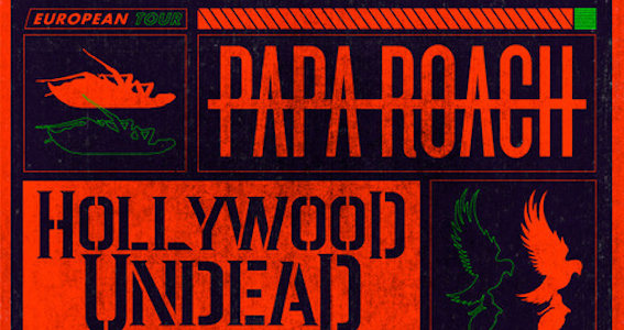 Papa Roach -Hollywood Undead - Ice Nine Kills - European Tour 2020 - Promo