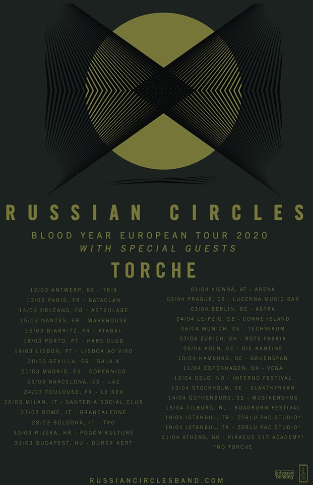 Russian Circles - Torche - Blood Year European Tour 2020 - Promo