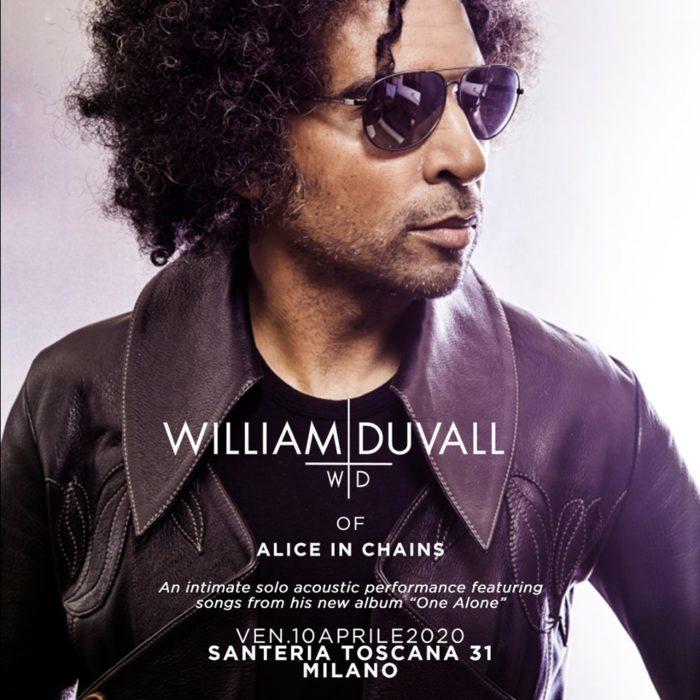 William Duvall - Santeria Toscana - Live 2020 - Promo