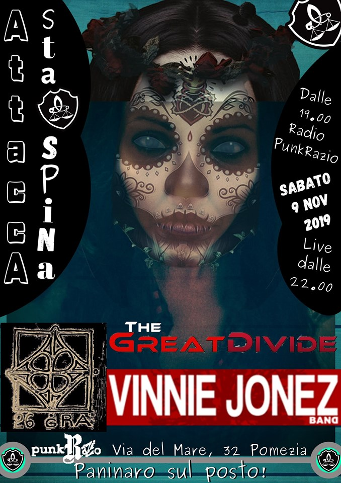 26 GRA - Vinnie Jonez Band - The Great Divide - Attacca Sta Spina 2019 - Promo