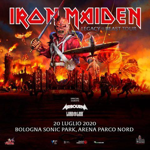 Iron Maiden - Bologna Sonic Park - Tour 2020 - Promo