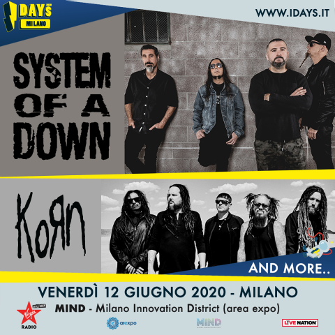 Korn - System Of A Down - I Days - Innovation District - Tour 2020 - Promo