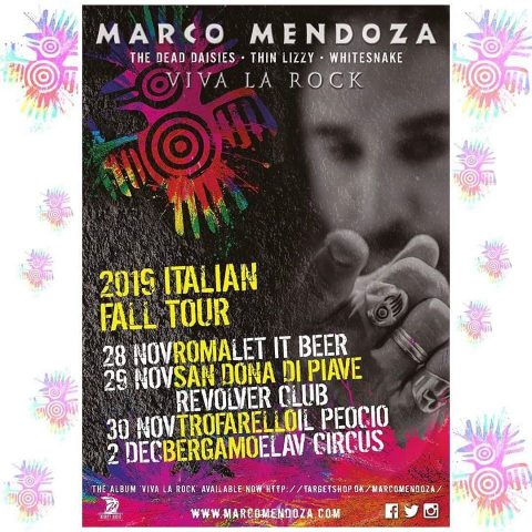 Marco Mendoza - Viva La Rock - Tour 2019 - Promo