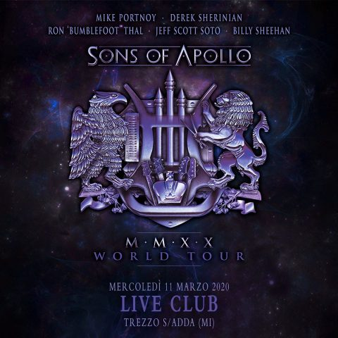 Sons Of Apollo - Live Music Club - MMXX World Tour 2020 - Promo