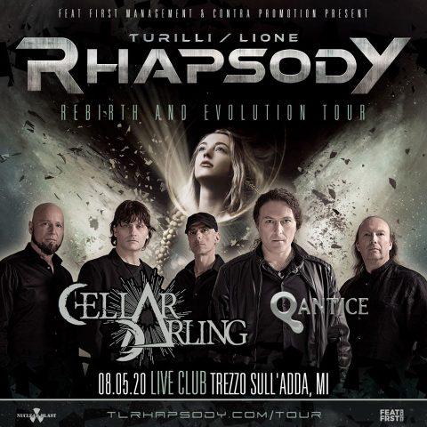 Turilli - Lione - Rhapsody - Cellar Darling - Canterra Qantice - Live Club - Rebirth And Evolution - Tour 2020 - Promo