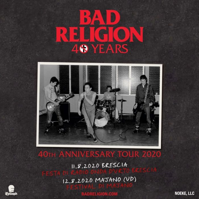 Bad Religion - 40Th Anniversary Tour 2020 - Promo