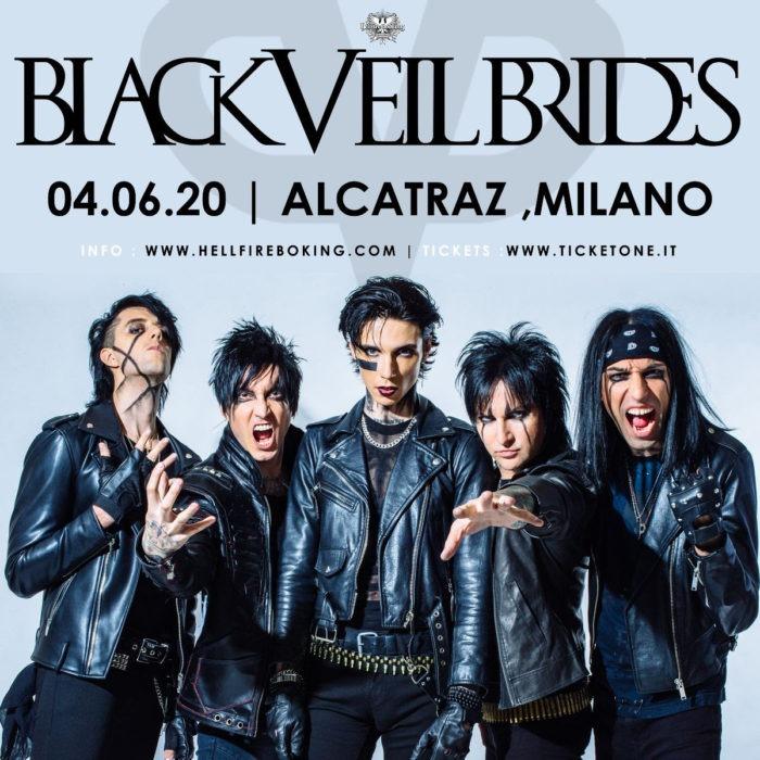Black Veil Brides - Milano - Alcatraz - Tour 2020 - Promo