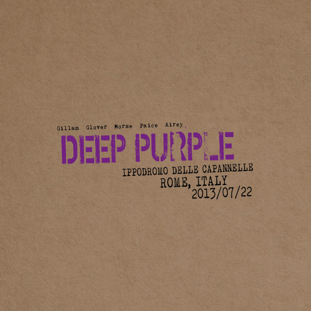 Deep Purple - Live In Rome 2013 - Album Cover