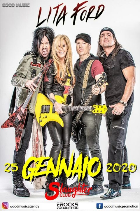 Lita Ford - Slaughter Club - Tour 2020 - Promo