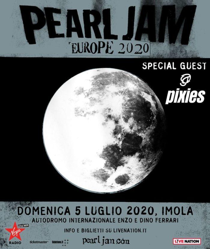 Pearl Jam - Pixies - Autodromo Di Imola - Europe Tour 2020 - Promo