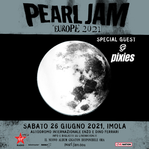 Pearl Jam - Pixies - Autodromo Internazionale Enzo Dino Ferrari Di Imola - Europe Tour 2021 - Promo