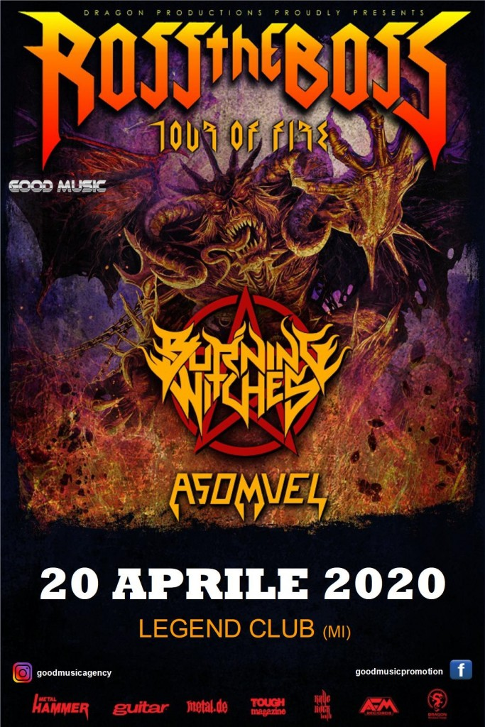 Ross The Boss - Burning Witches - Asomvel - Tour Of Fire 2020 - Promo
